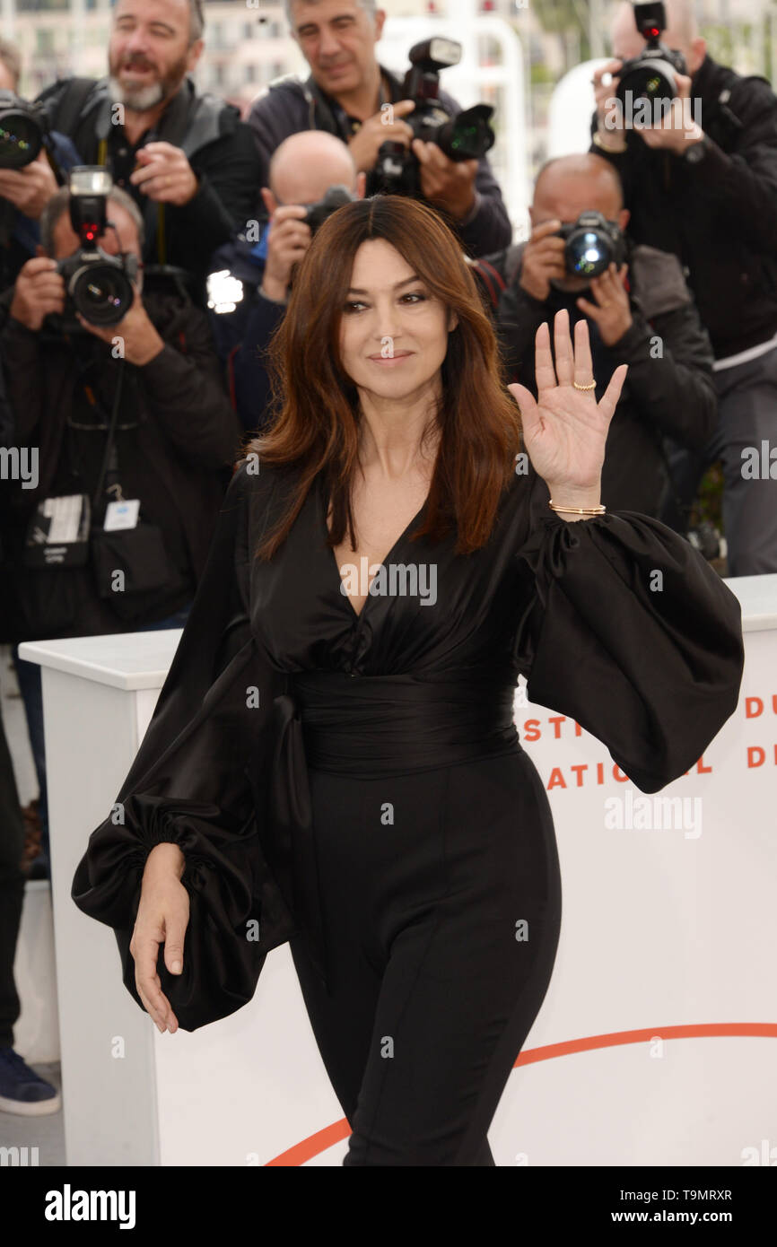 May 19, 2019 - Cannes, France - CANNES, FRANCE - MAY 19: Monica Bellucci attends the photocall for ''The Best Years of a Life (Les Plus Belles Annees D'Une Vie)'' during the 72nd annual Cannes Film Festival on May 19, 2019 in Cannes, France. (Credit Image: © Frederick InjimbertZUMA Wire) Stock Photo