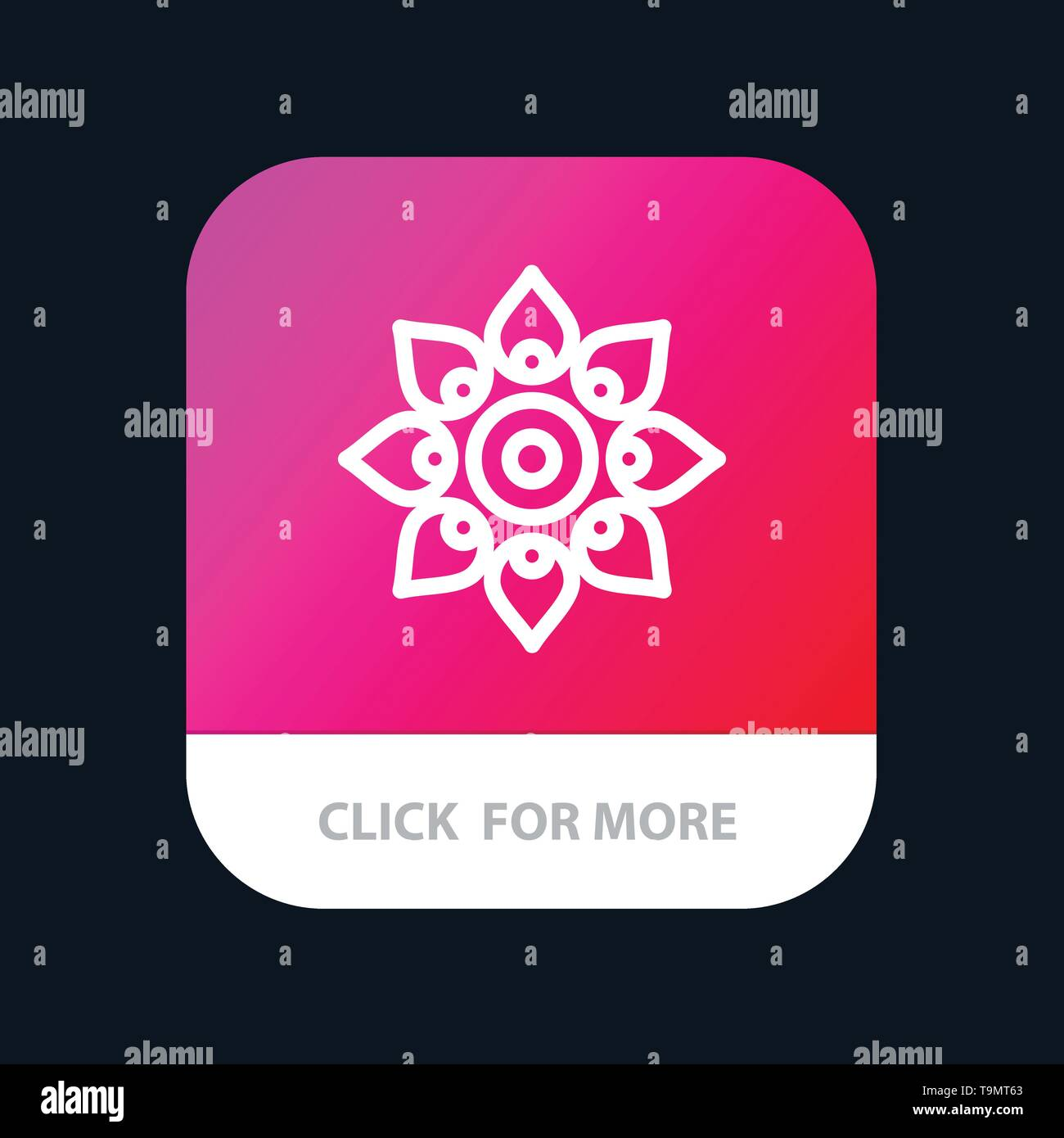 Celebrate, Decorate, Decoration, Diwali, Hindu, Holi Mobile App Button. Android and IOS Line Version - Stock Image