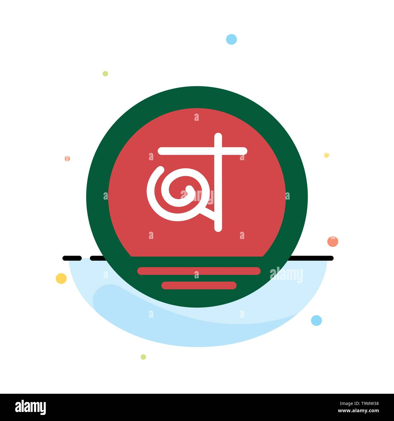 Bangla, Bangladesh, Bangladeshi, Business Abstract Flat Color Icon Template - Stock Image