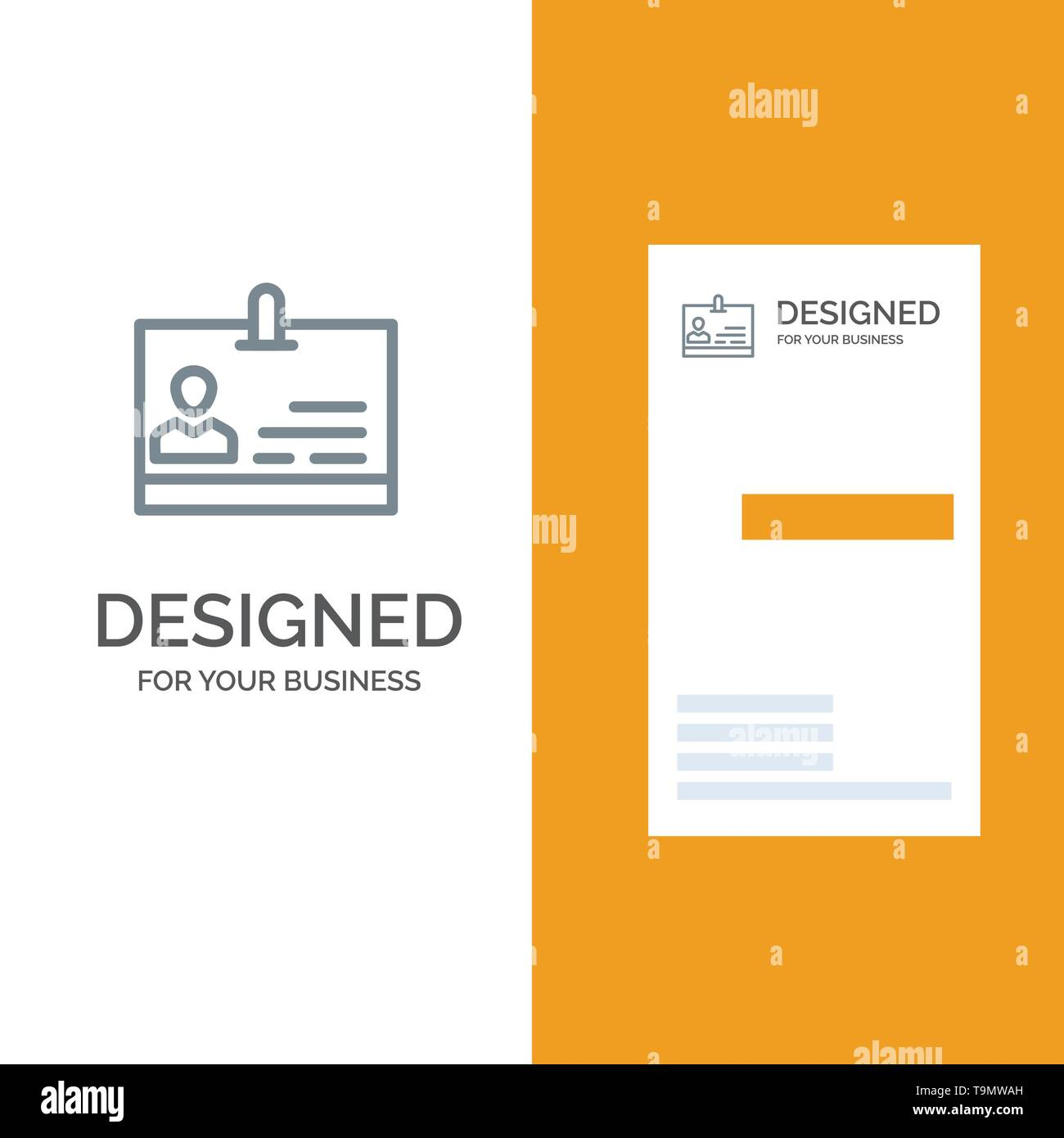Id Card Identity Badge Grey Logo Design And Business Card Template Stock Vector Image Art Alamy