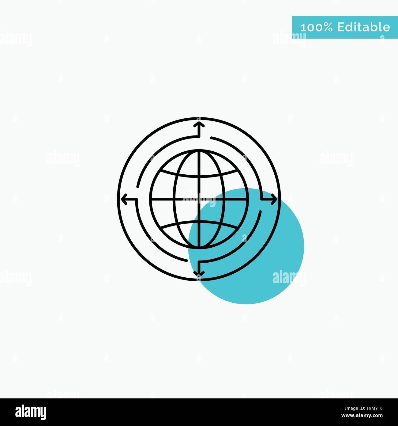 Globe, Business, Communication, Connection, Global, World turquoise