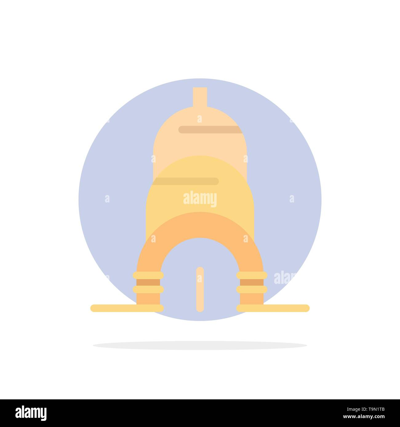 Chrysler, Building, Usa Abstract Circle Background Flat color Icon - Stock Vector