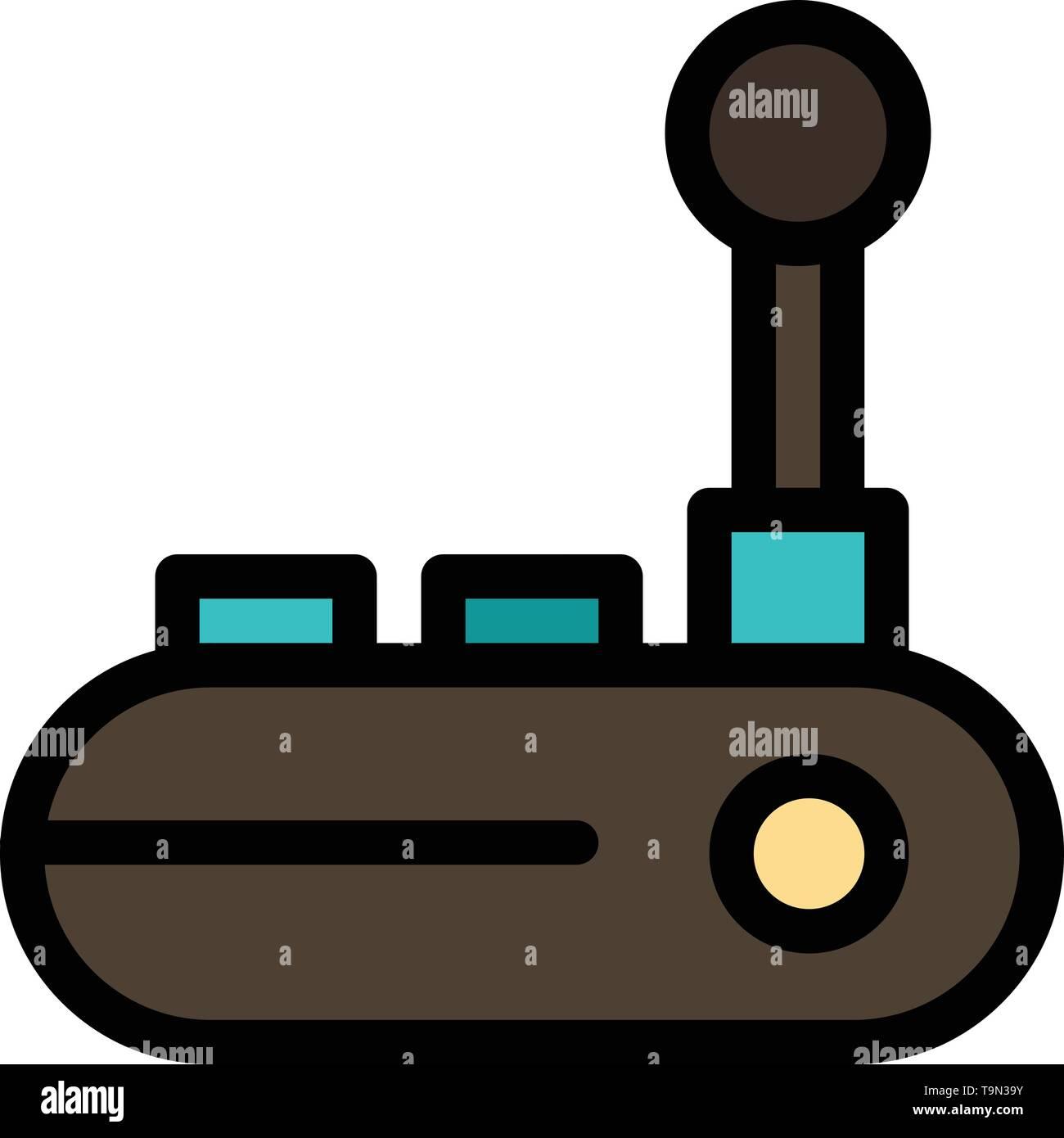 Controller, Joy Pad, Joy Stick, Joy pad  Flat Color Icon. Vector icon banner Template - Stock Image