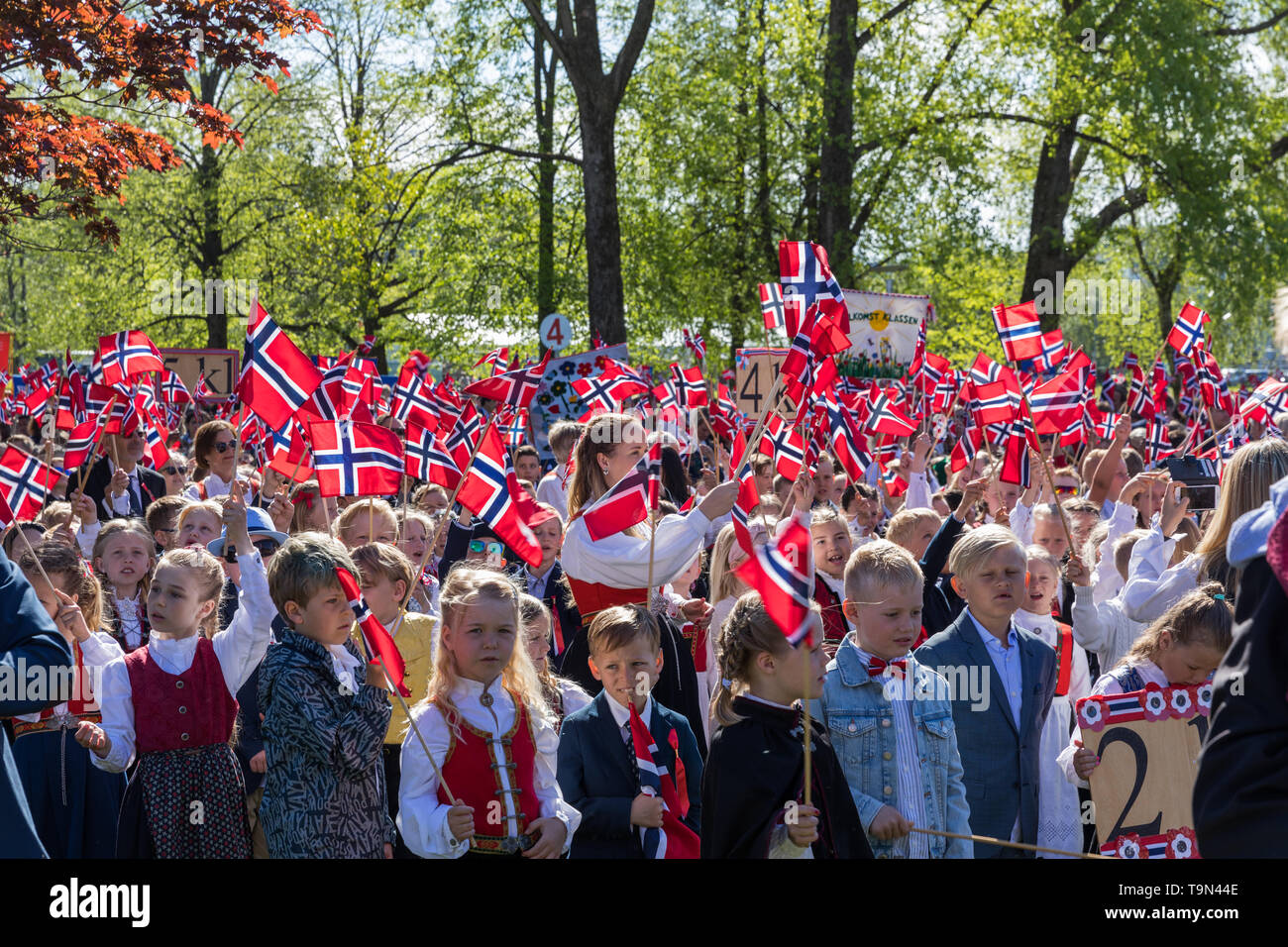17th May Norwegian Constitution Day celebrations in Sandefjord Stock Photo