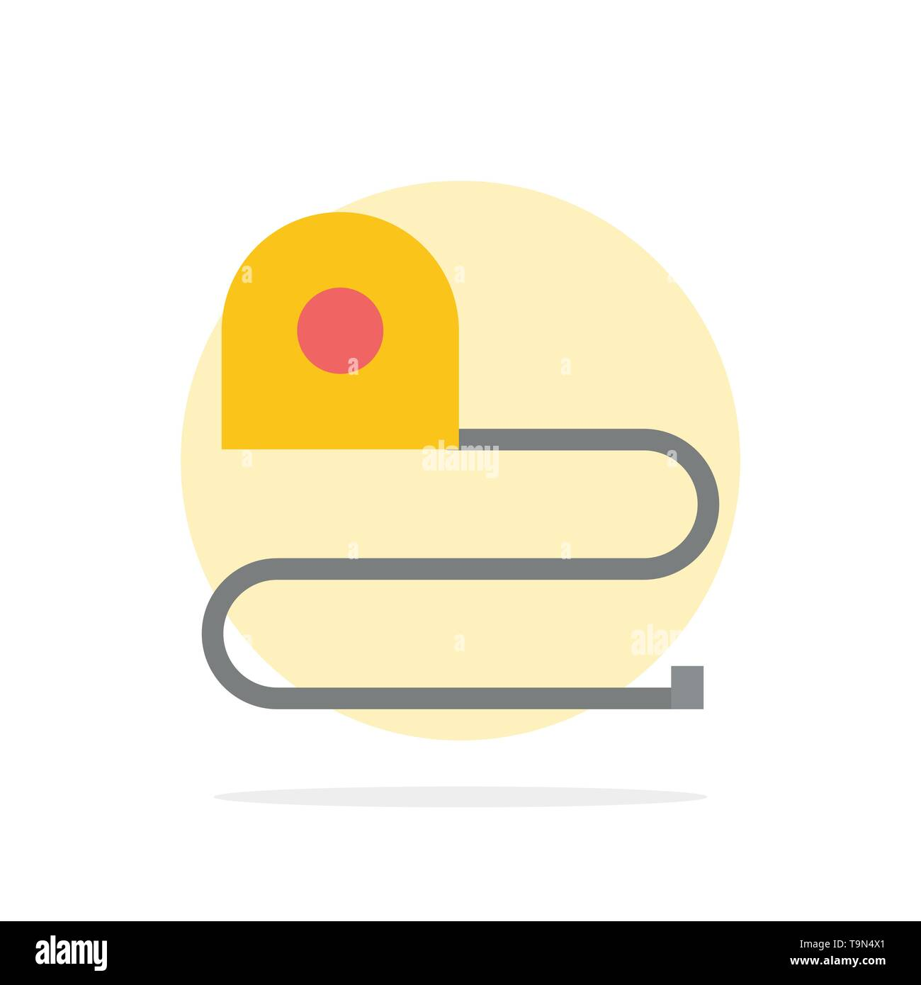 Construction, Measuring, Scale, Tape Abstract Circle Background Flat color Icon - Stock Image