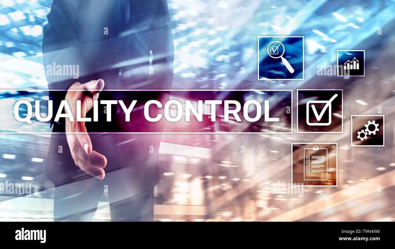 Quality control and assurance. Standardisation. Guarantee. Standards. Business and technology concept. Stock Photo