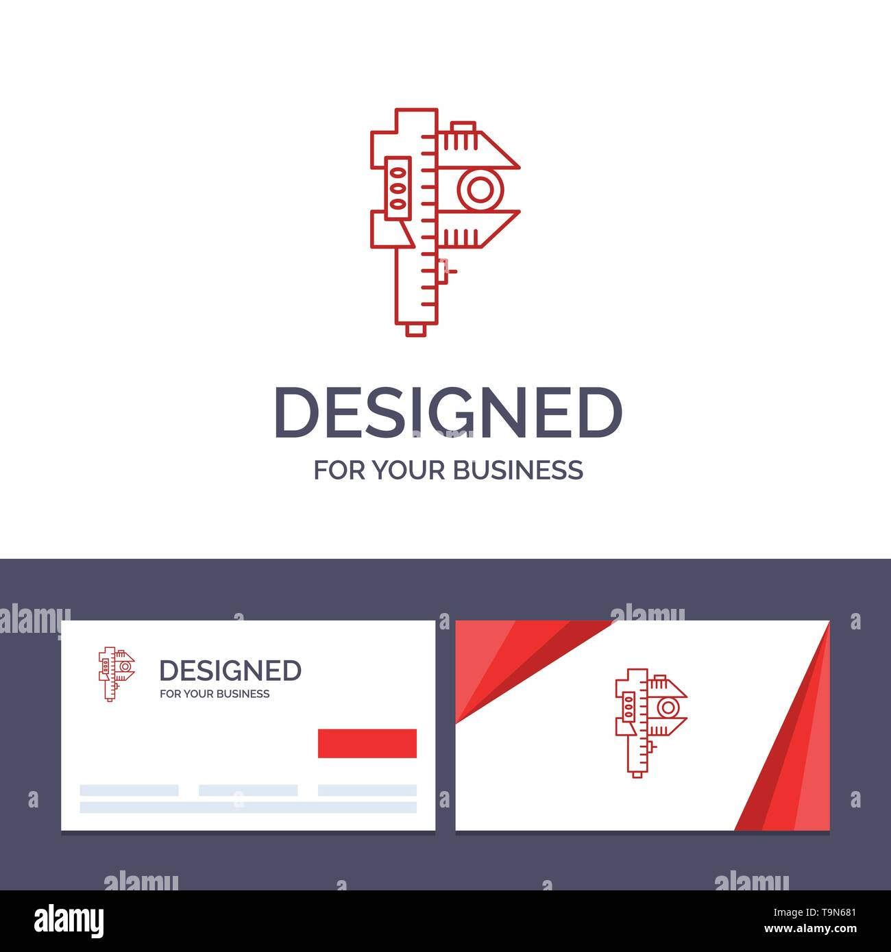 Creative Business Card and Logo template Measuring, Accuracy, Measure, Small, Tiny Vector Illustration - Stock Image