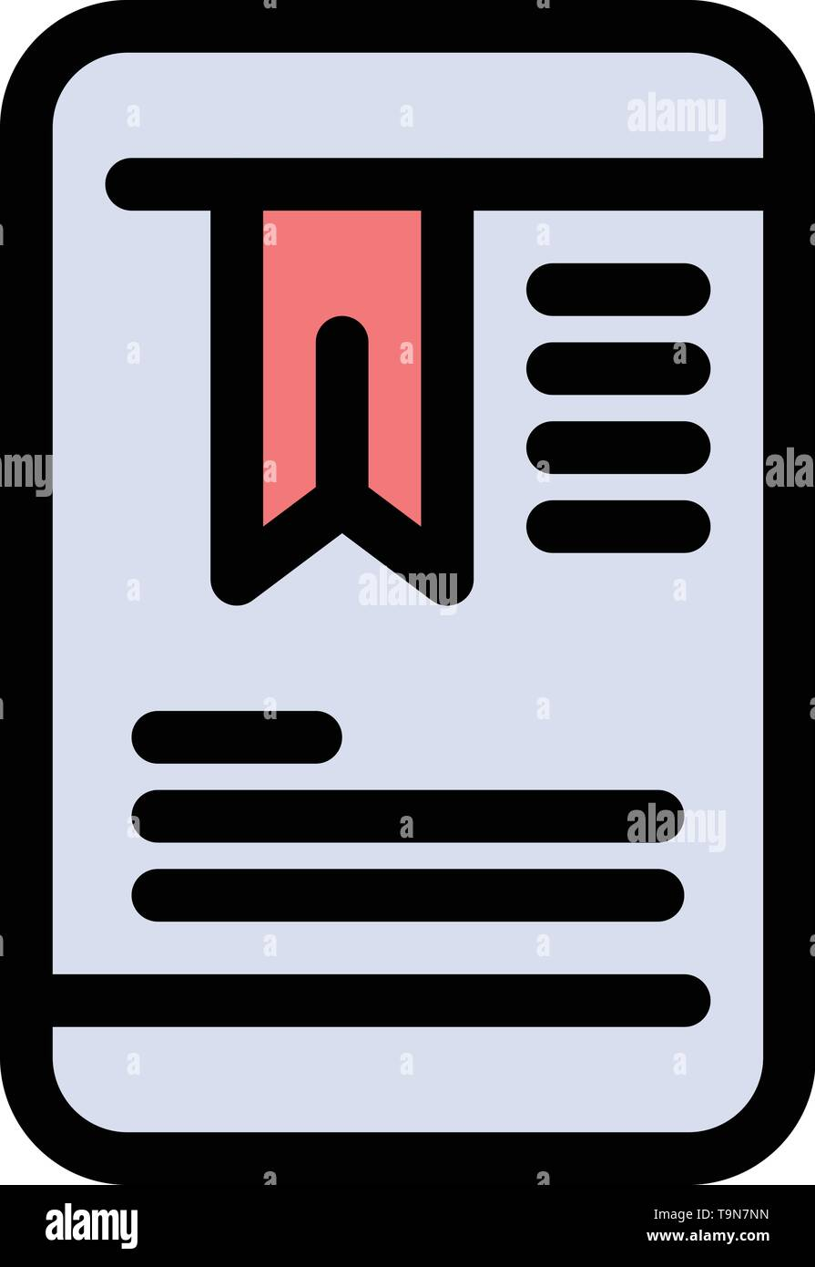 Mobile, Tag, OnEducation  Flat Color Icon. Vector icon banner Template - Stock Image