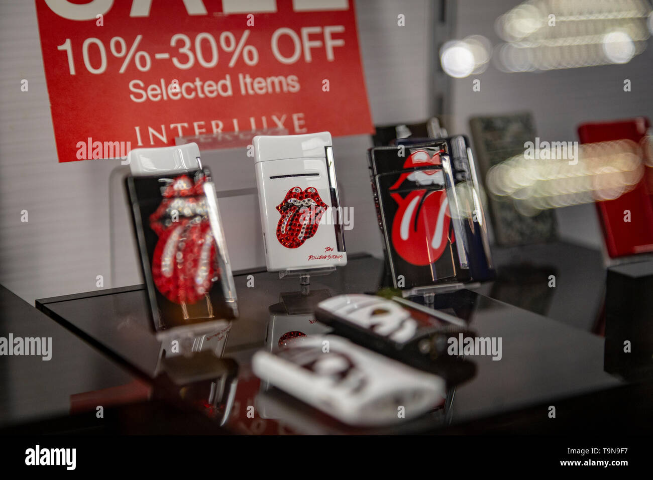 rolling stones lighter - Stock Image
