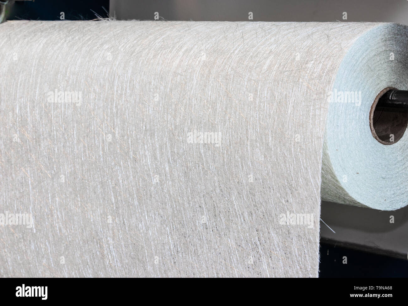 Fiberglass fabric composite roll material FMR Industry - Stock Image