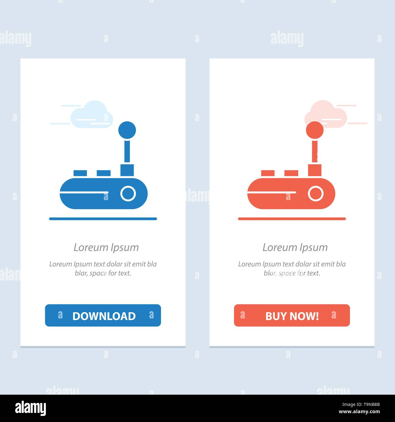 Controller, Joy Pad, Joy Stick, Joy pad  Blue and Red Download and Buy Now web Widget Card Template - Stock Image