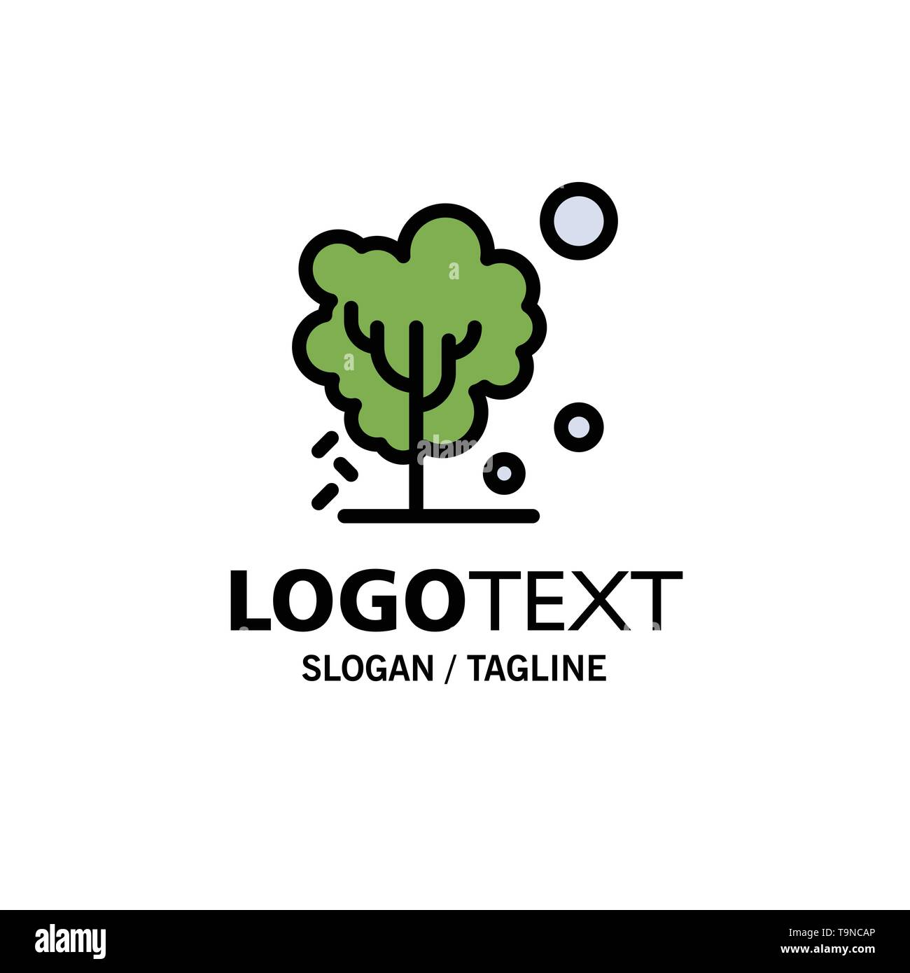 Dry, Global, Soil, Tree, Warming Business Logo Template. Flat Color - Stock Image