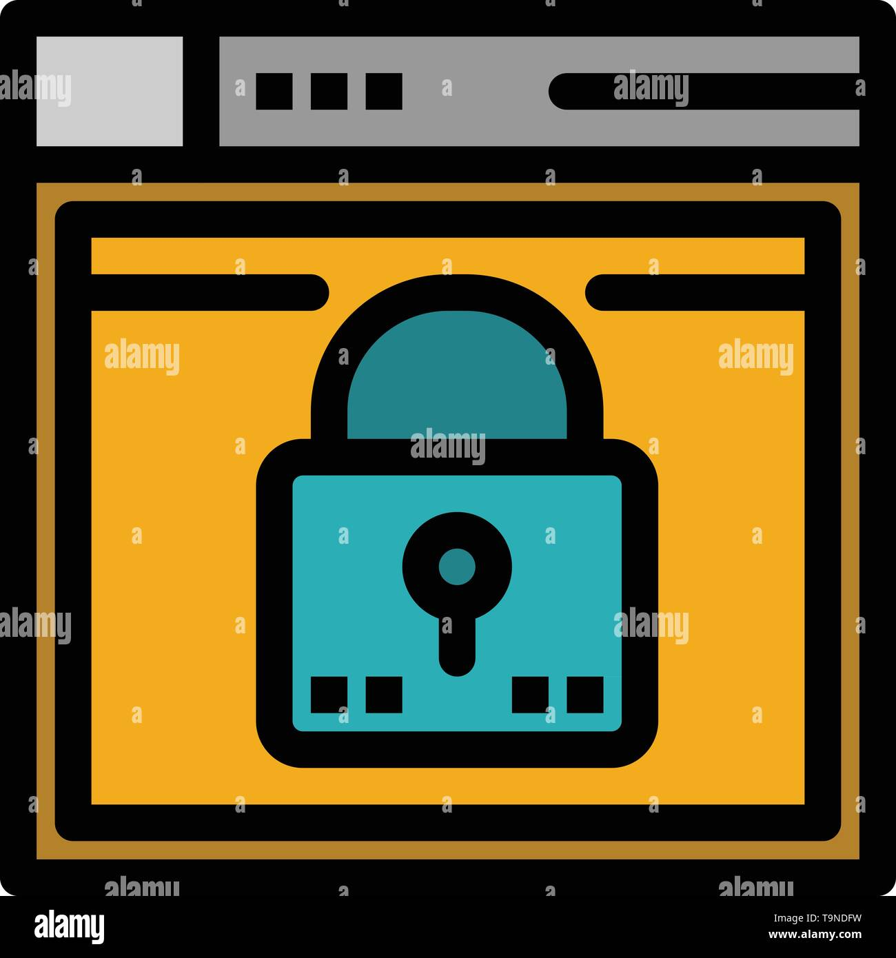Login, Secure, Web, Layout, Password, Lock Flat Color Icon