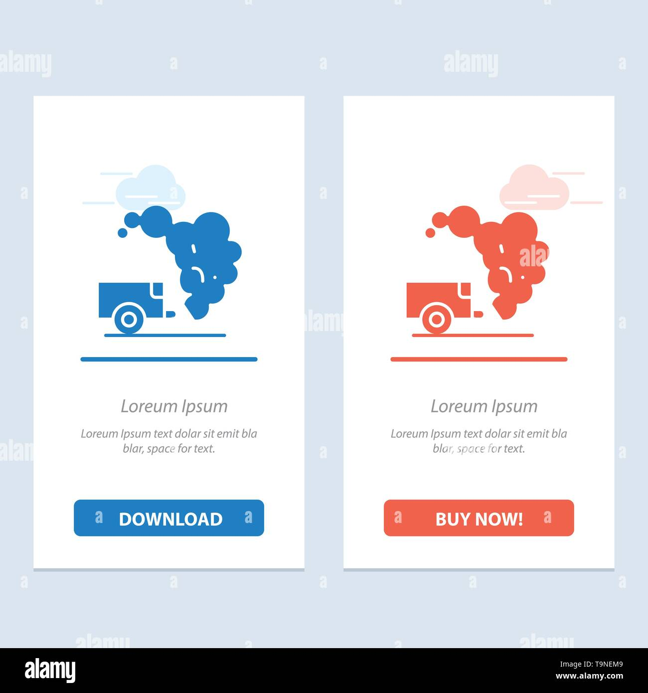 Dump, Environment, Garbage, Pollution  Blue and Red Download and Buy Now web Widget Card Template - Stock Image