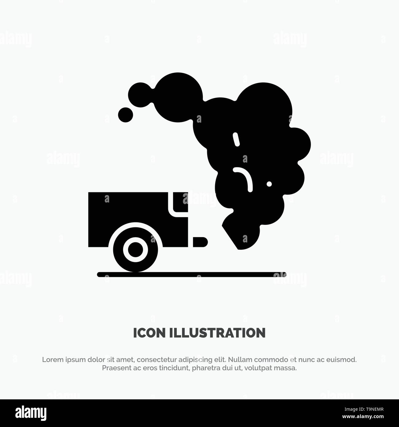 Dump, Environment, Garbage, Pollution solid Glyph Icon vector - Stock Image