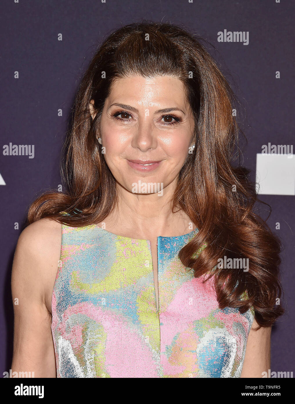 LOS ANGELES, CA - MAY 18: Marisa Tomei  attends the MOCA Benefit 2019 at The Geffen Contemporary at MOCA on May 18, 2019 in Los Angeles, California. - Stock Image