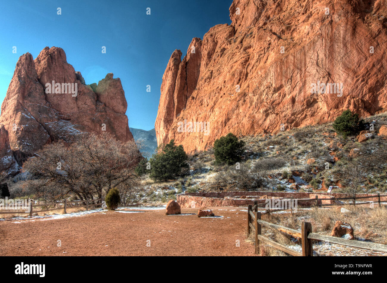 Garden of the Gods park in Colorado Springs, Colorado - Stock Image