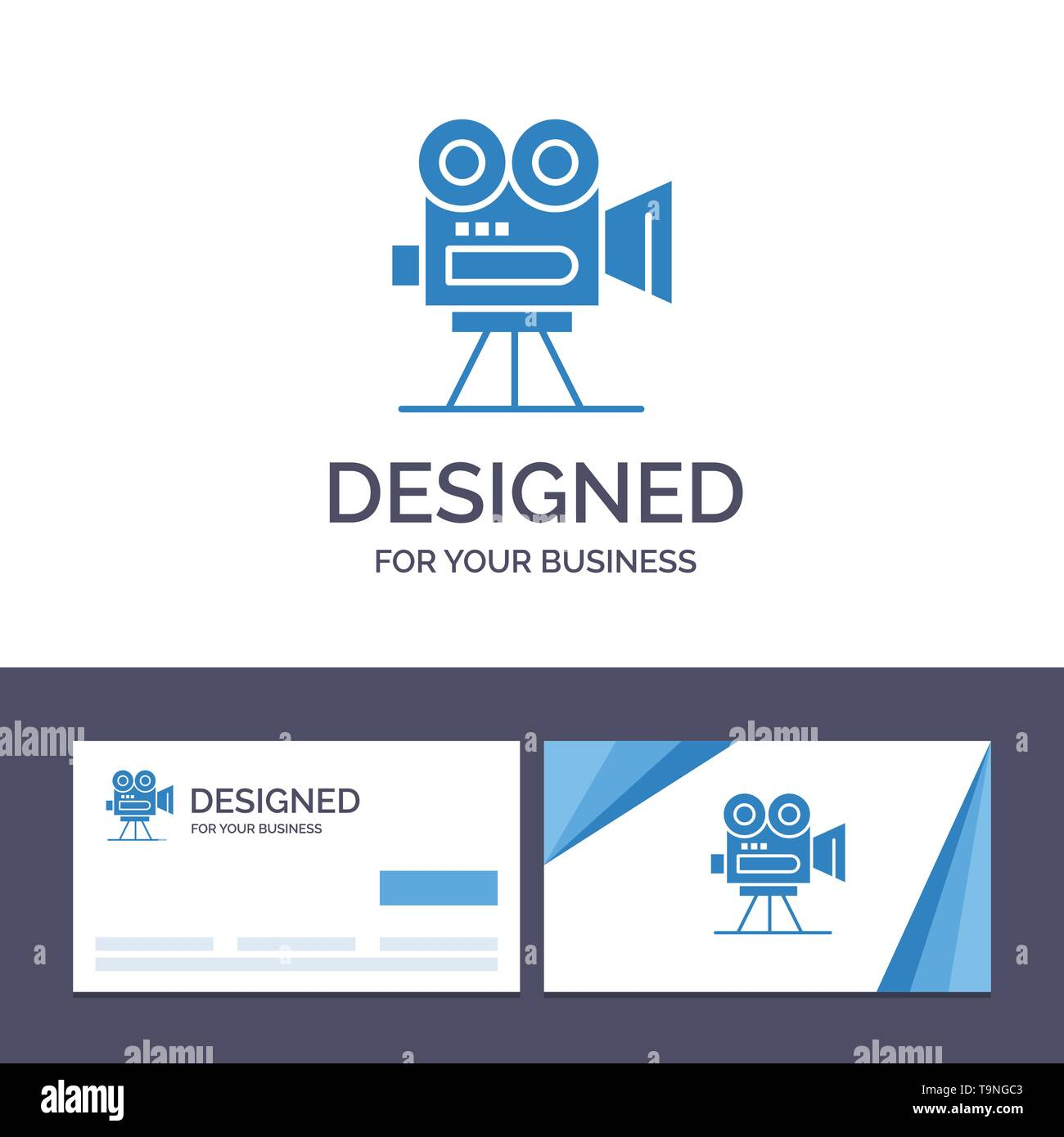 Creative Business Card and Logo template Camera, Capture, Film, Movie, Professional Vector Illustration - Stock Vector
