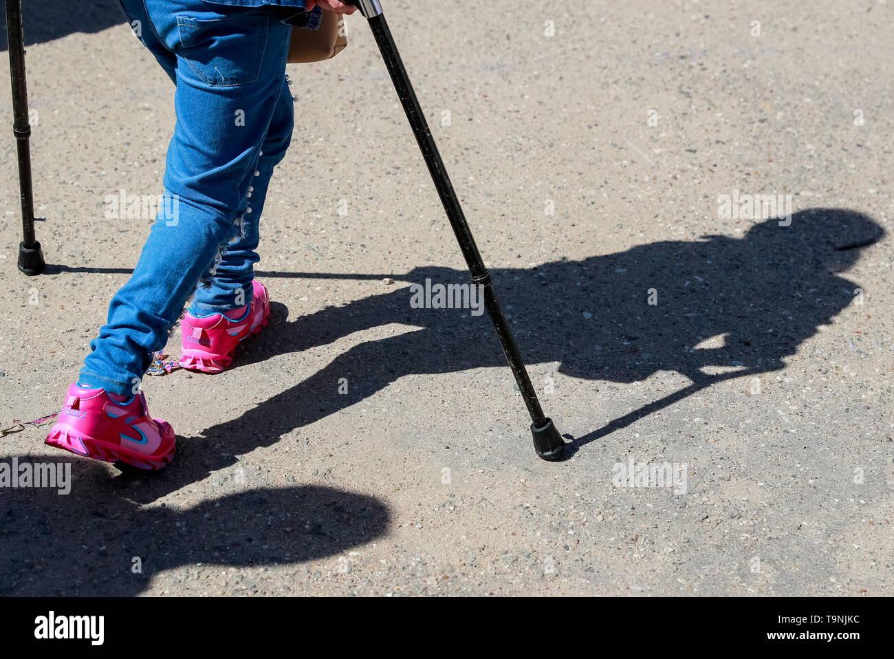 Crutches Child Stock Photos & Crutches Child Stock Images
