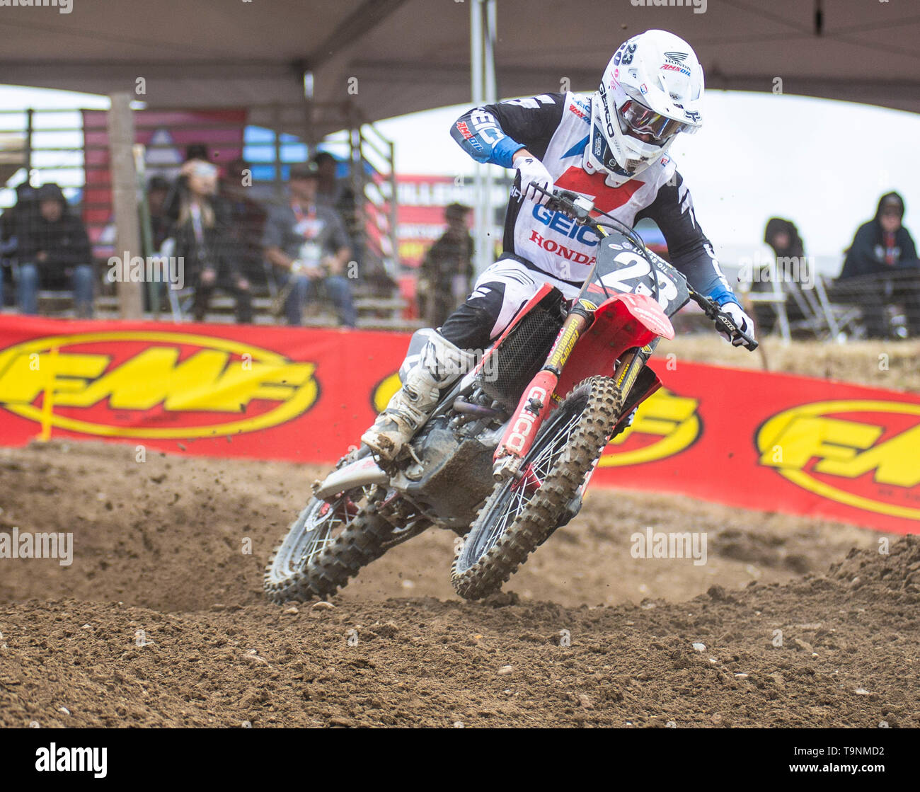 Rancho Cordova, CA U.S. 18th May, 2019. A. : # 23 Chase Sexton coming out of turn 18 during the Lucas Oil Pro Motocross Championship 250 class moto # 1 at Hangtown Motocross Classic Rancho Cordova, CA Thurman James/CSM/Alamy Live News - Stock Image
