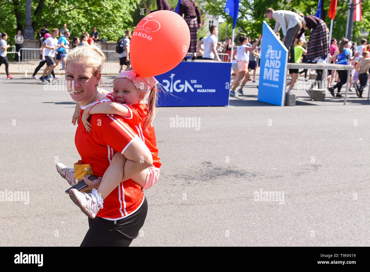 RIGA, Latvia. 19th May, 2019. TET RIGA MARATHON 2019. The only IAAF Gold Label marathon in Northern Europe. Credit: Gints Ivuskans/Alamy Live News Stock Photo