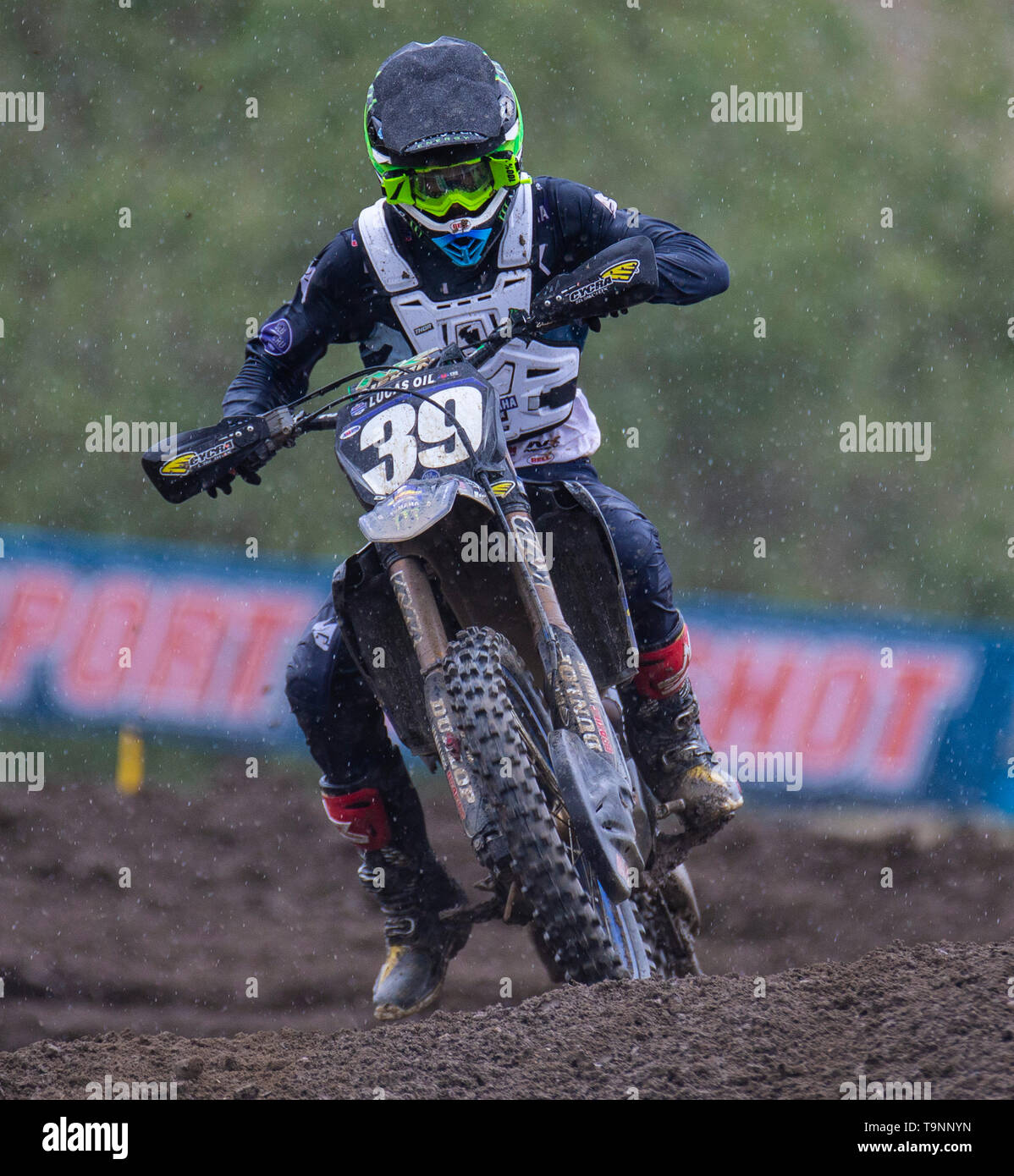 Rancho Cordova, CA U.S. 18th May, 2019. A. : # 39 Colt Nichols coming out of section 16 during the Lucas Oil Pro 250 Motocross Championship at Hangtown Motocross Classic Rancho Cordova, CA Thurman James/CSM/Alamy Live News - Stock Image