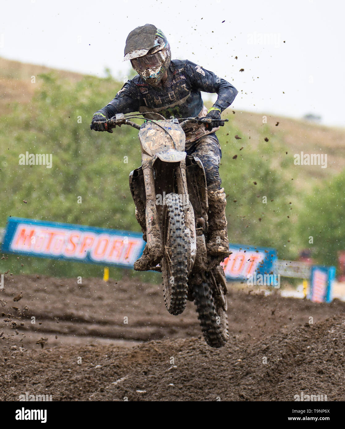 Rancho Cordova, CA U.S. 18th May, 2019. A. : # 34 Dylan Ferrandis coming out of section 16 during the Lucas Oil Pro Motocross 250 Championship at Hangtown Motocross Classic Rancho Cordova, CA Thurman James/CSM/Alamy Live News - Stock Image
