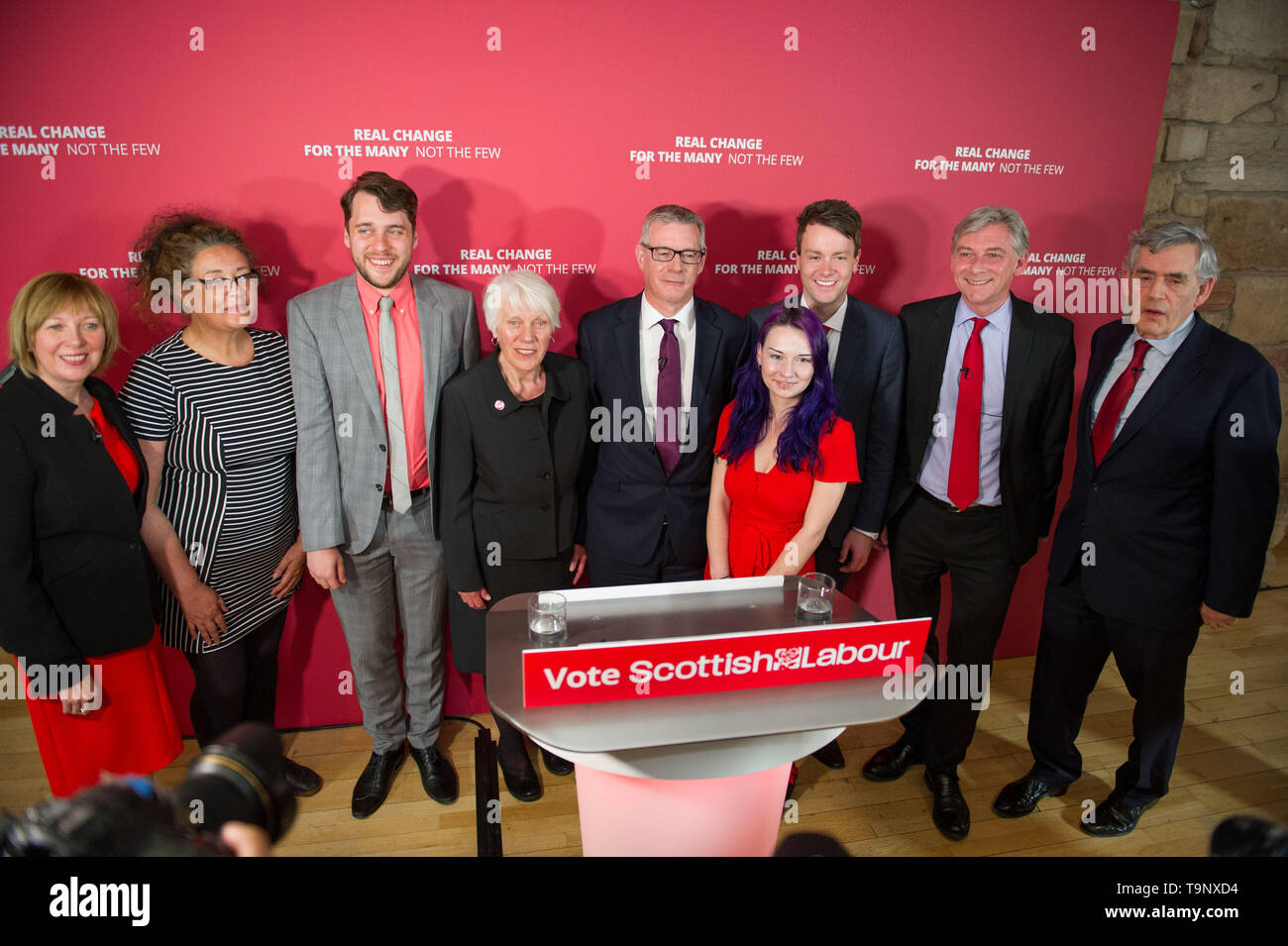 Glasgow, UK. 20th May, 2019. Former Labour Prime Minister Gordon Brown will join Scottish Labour leader Richard Leonard and the party's candidates for a European Parliament election campaign rally at The Lighthouse gallery in Glasgow. Credit: Colin Fisher/Alamy Live News - Stock Image