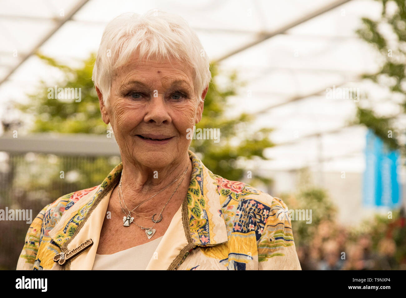 London, UK. 20 May 2019. Dame Judi Dench. Press Day at the 2019 RHS Chelsea Flower Show. Photo: Bettina Strenske/Alamy Live News Stock Photo