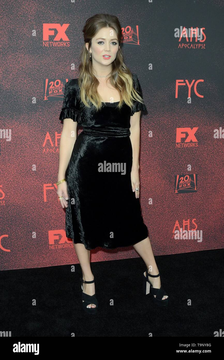 Los Angeles, CA, USA. 18th May, 2019. Billie Lourd at arrivals for AMERICAN HORROR STORY: APOCALYPSE FYC Event, NeueHouse, Los Angeles, CA May 18, 2019. Credit: Priscilla Grant/Everett Collection/Alamy Live News - Stock Image