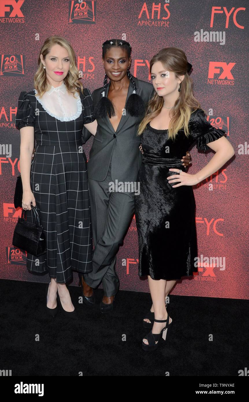 Los Angeles, CA, USA. 18th May, 2019. Leslie Grossman, Adina Porter, Billie Lourd at arrivals for AMERICAN HORROR STORY: APOCALYPSE FYC Event, NeueHouse, Los Angeles, CA May 18, 2019. Credit: Priscilla Grant/Everett Collection/Alamy Live News - Stock Image