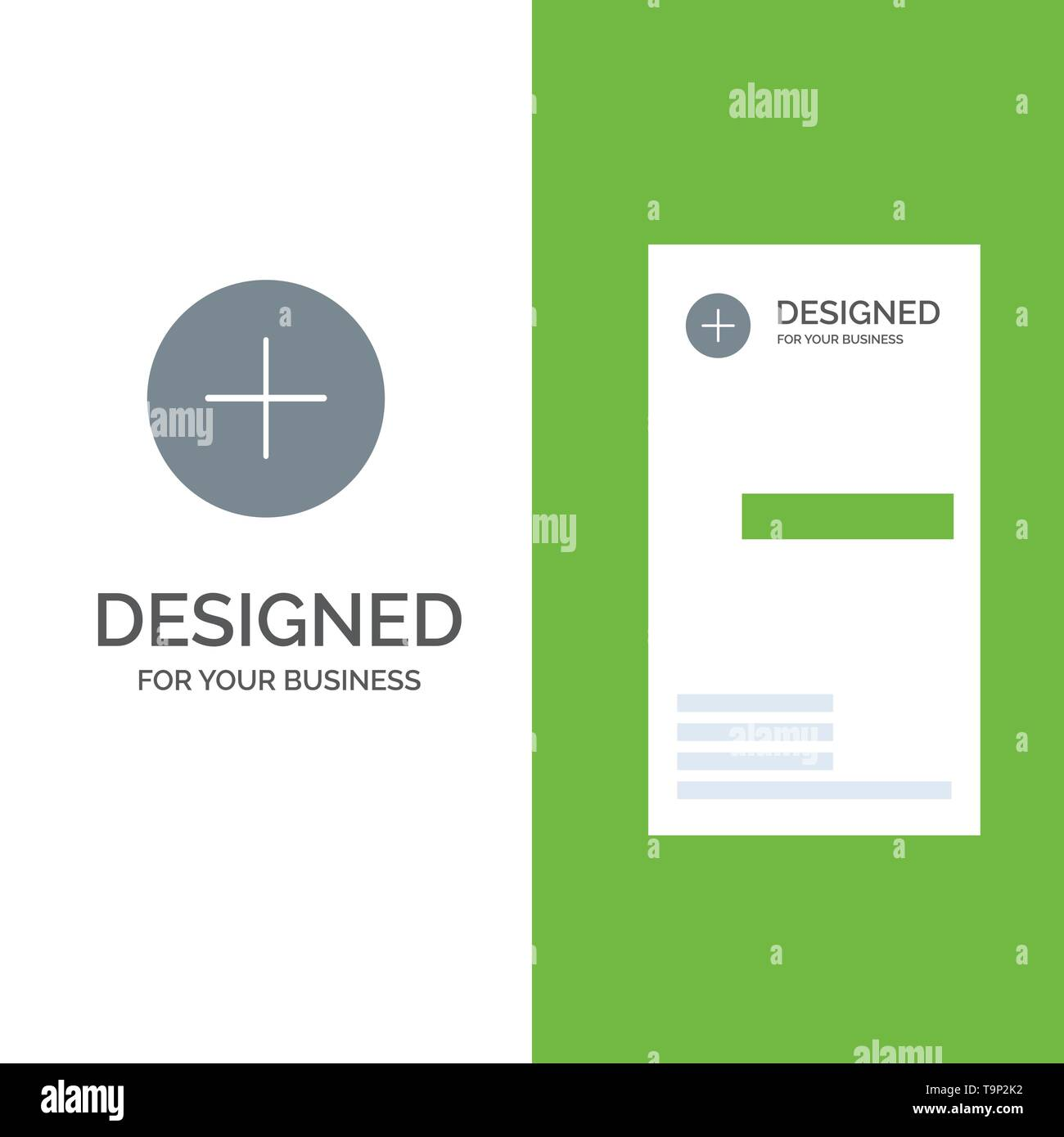 Twitter, Add, Contact Grey Logo Design and Business Card Template Stock Vector