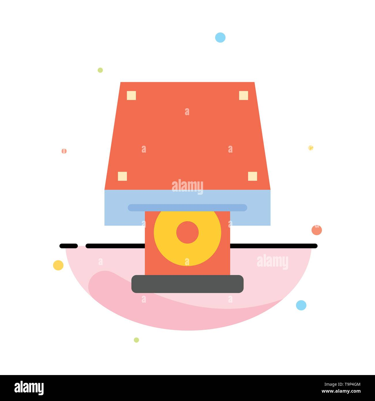 Dvd, CDROM, Data Storage, Disk, Rom Abstract Flat Color Icon Template Stock Vector