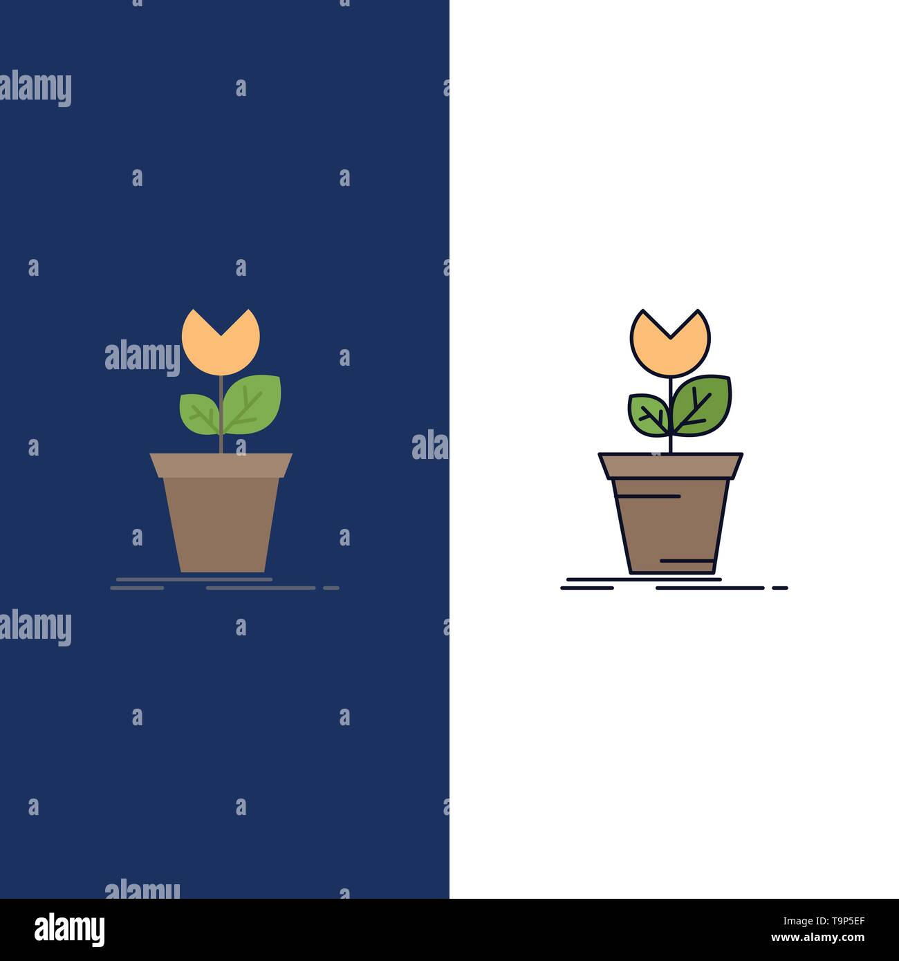 adventure, game, mario, obstacle, plant Flat Color Icon Vector - Stock Image