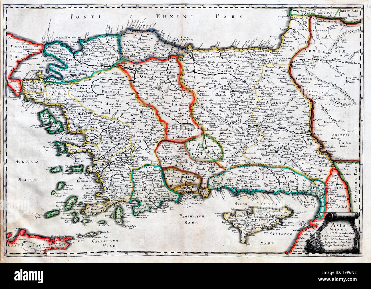 Map Of Asia Minor.Ancient Map Asia Minor Stock Photos Ancient Map Asia Minor Stock