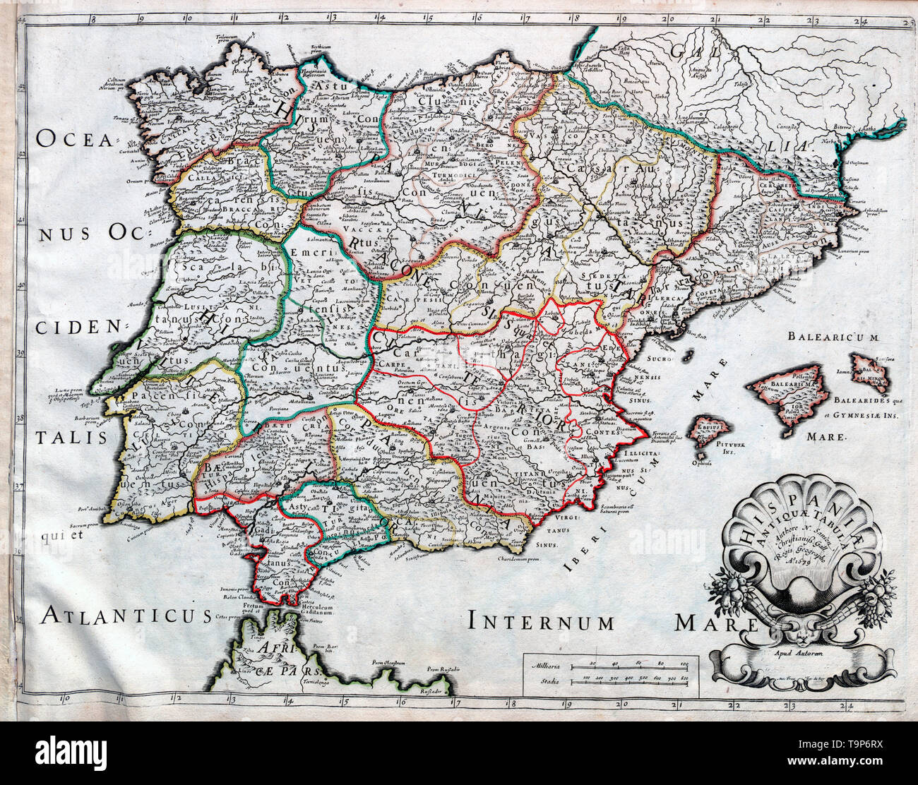 Map Of Spain 1700.Map Of Spain Antique Stock Photos Map Of Spain Antique Stock