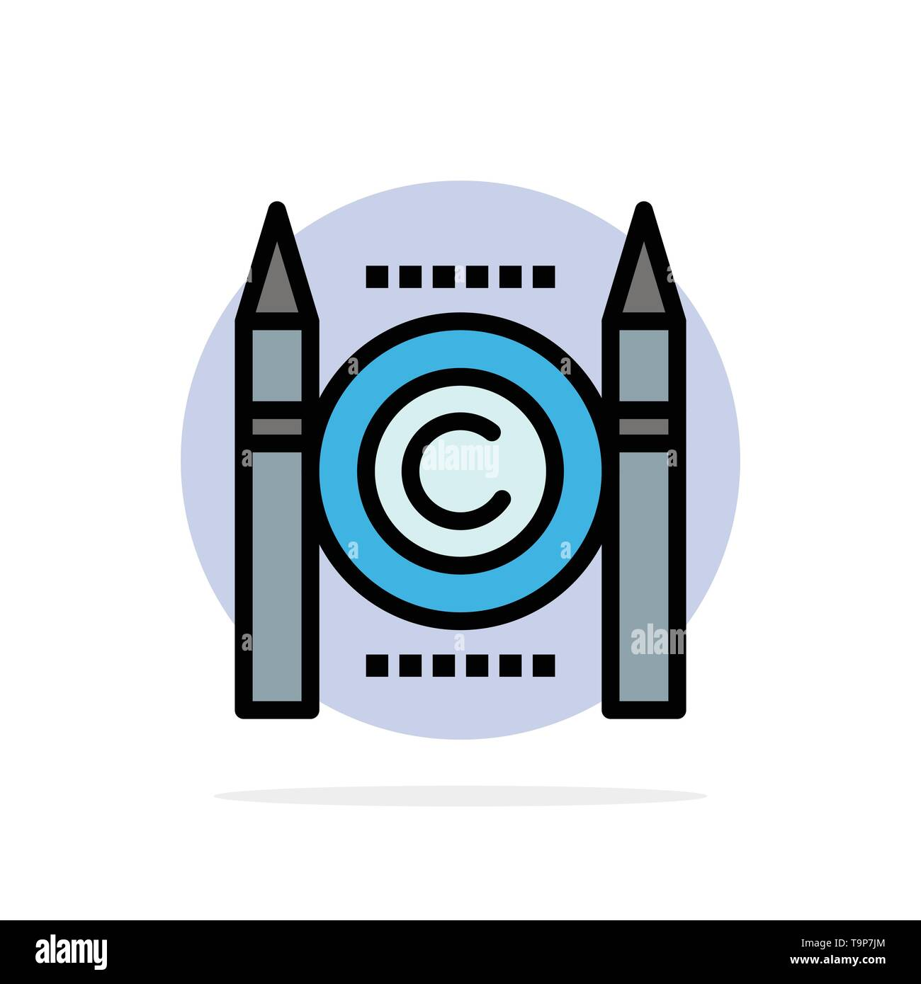 Business, Conflict, Copyright, Digital Abstract Circle Background Flat color Icon - Stock Image