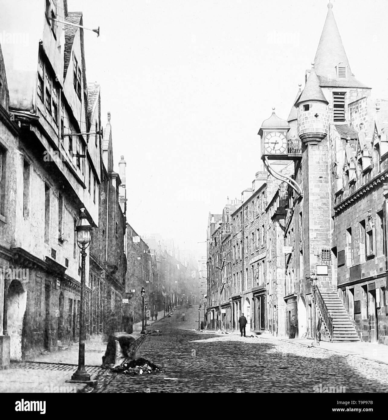 Cannongate, Edinburgh Stock Photo