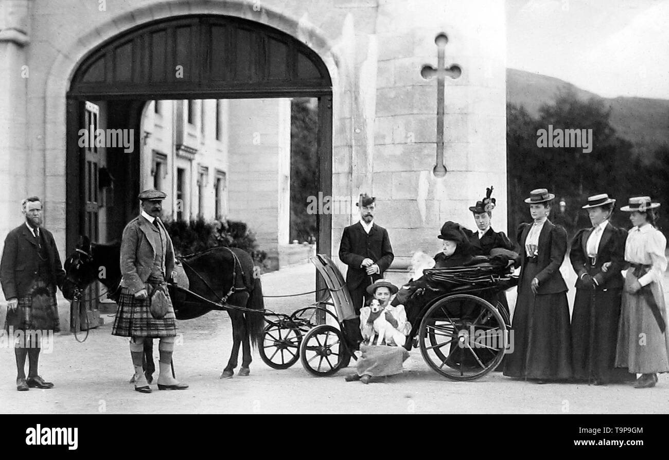Queen Victoria in a donkey chair - Stock Image