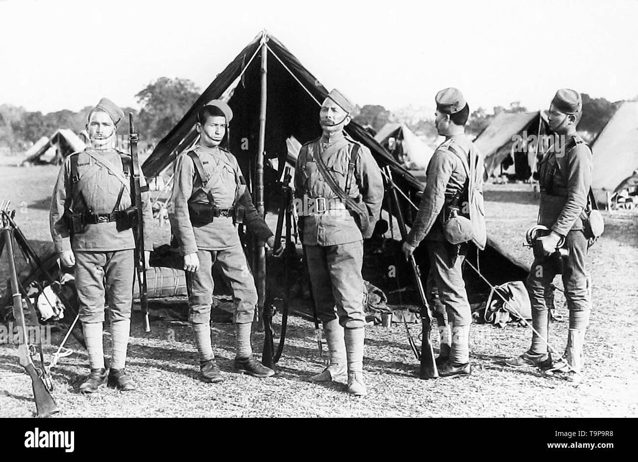 38th Gharwal Rifles, British Army - Stock Image