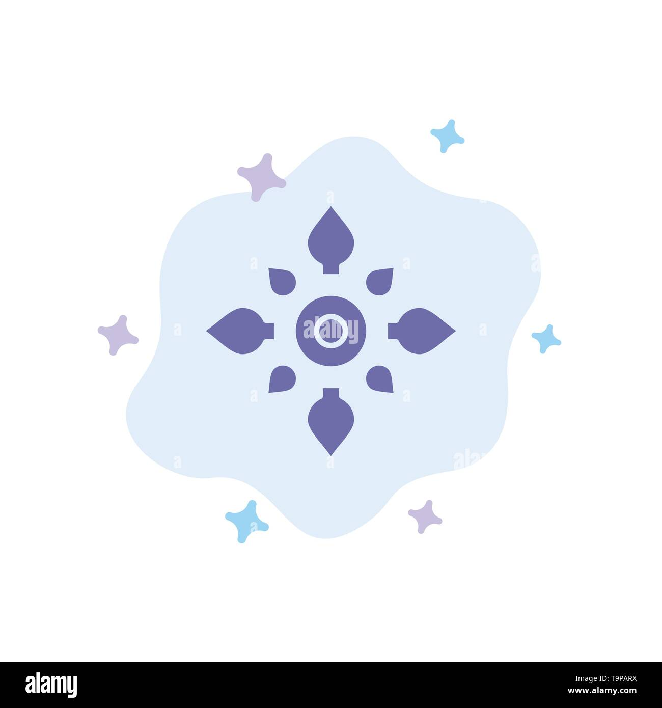 Celebrate, Decorate, Decoration, Diwali, Hindu, Holi Blue Icon on Abstract Cloud Background - Stock Image