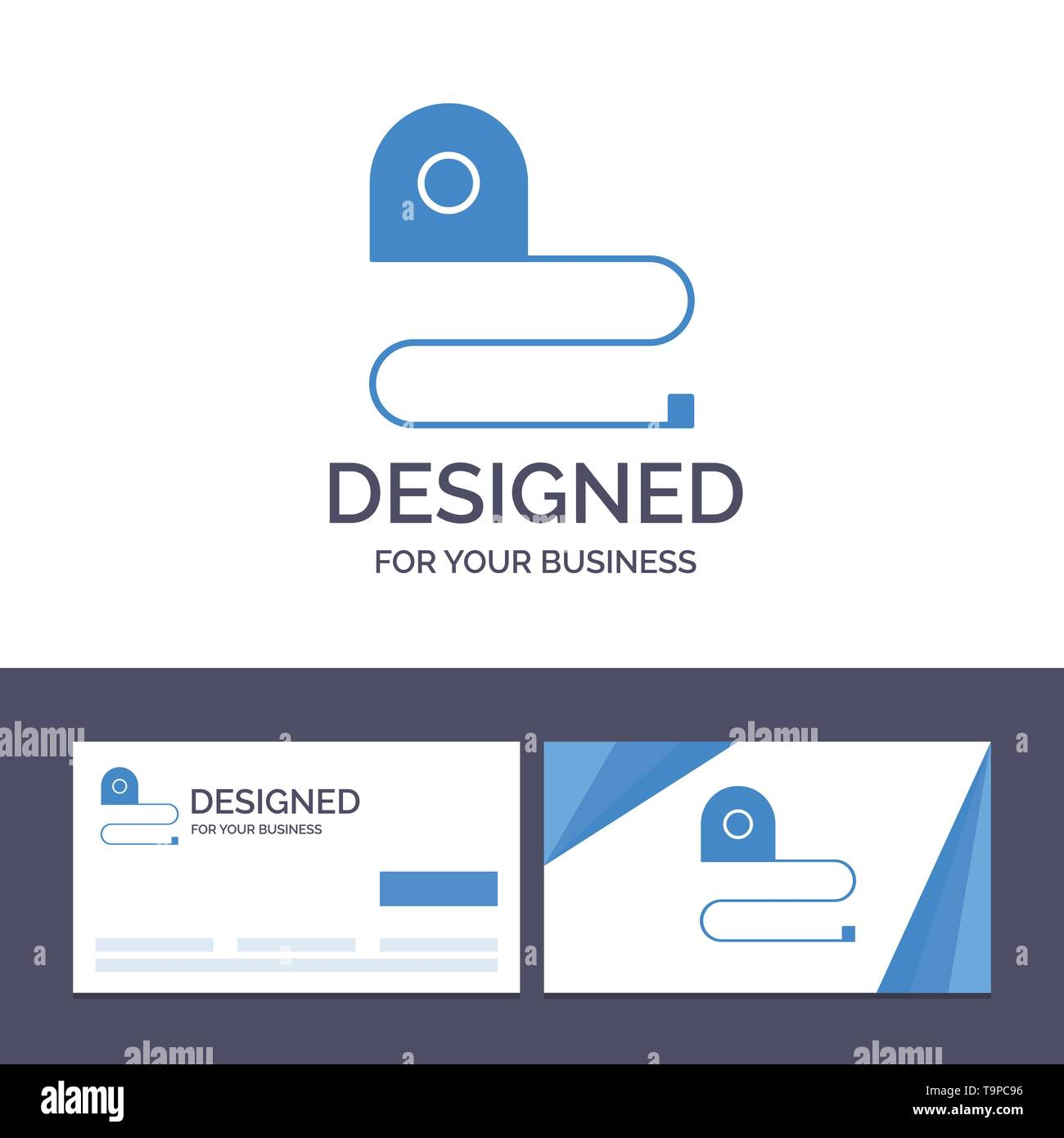Creative Business Card and Logo template Construction, Measuring, Scale, Tape Vector Illustration - Stock Image