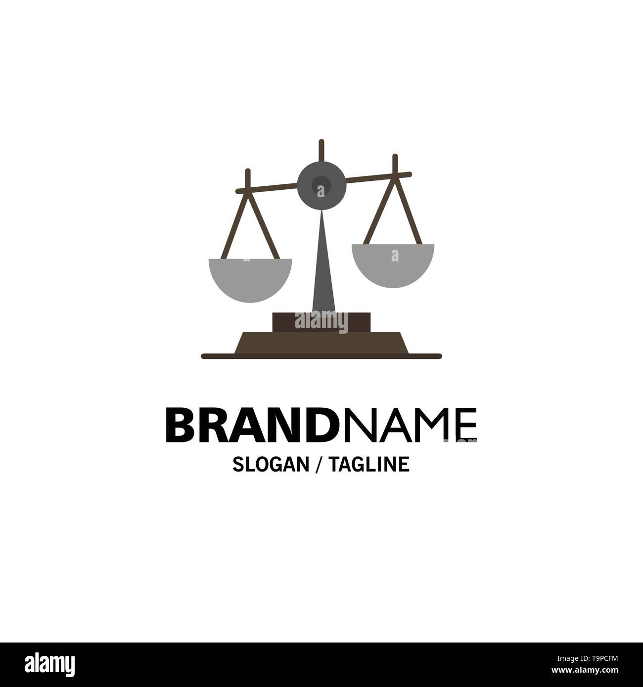 Balance, Court, Judge, Justice, Law, Legal, Scale, Scales Business Logo Template. Flat Color - Stock Image