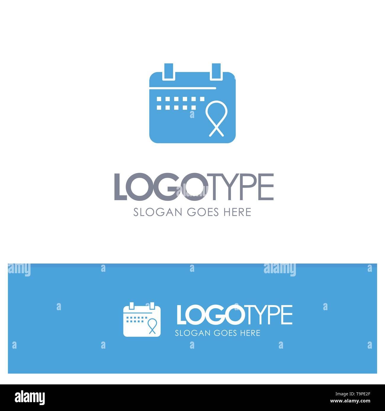 Calendar, Love, Operation, Date Blue Logo vector - Stock Image