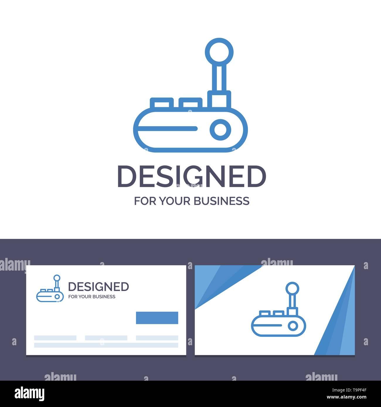 Creative Business Card and Logo template Controller, Joy Pad, Joy Stick, Joy pad Vector Illustration - Stock Image
