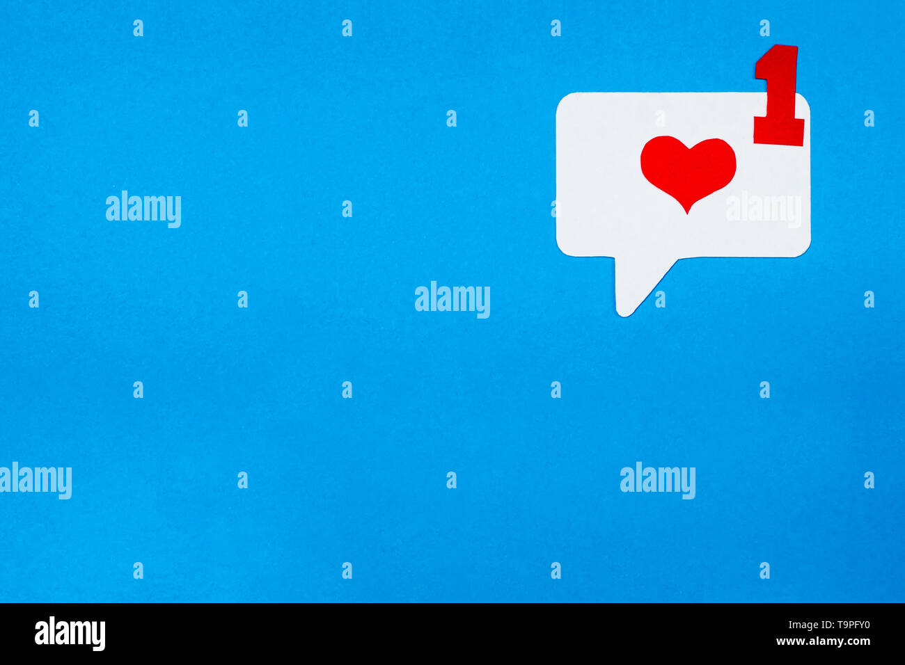 Love correspondence in electronic form. Social media chat concept. - Stock Image