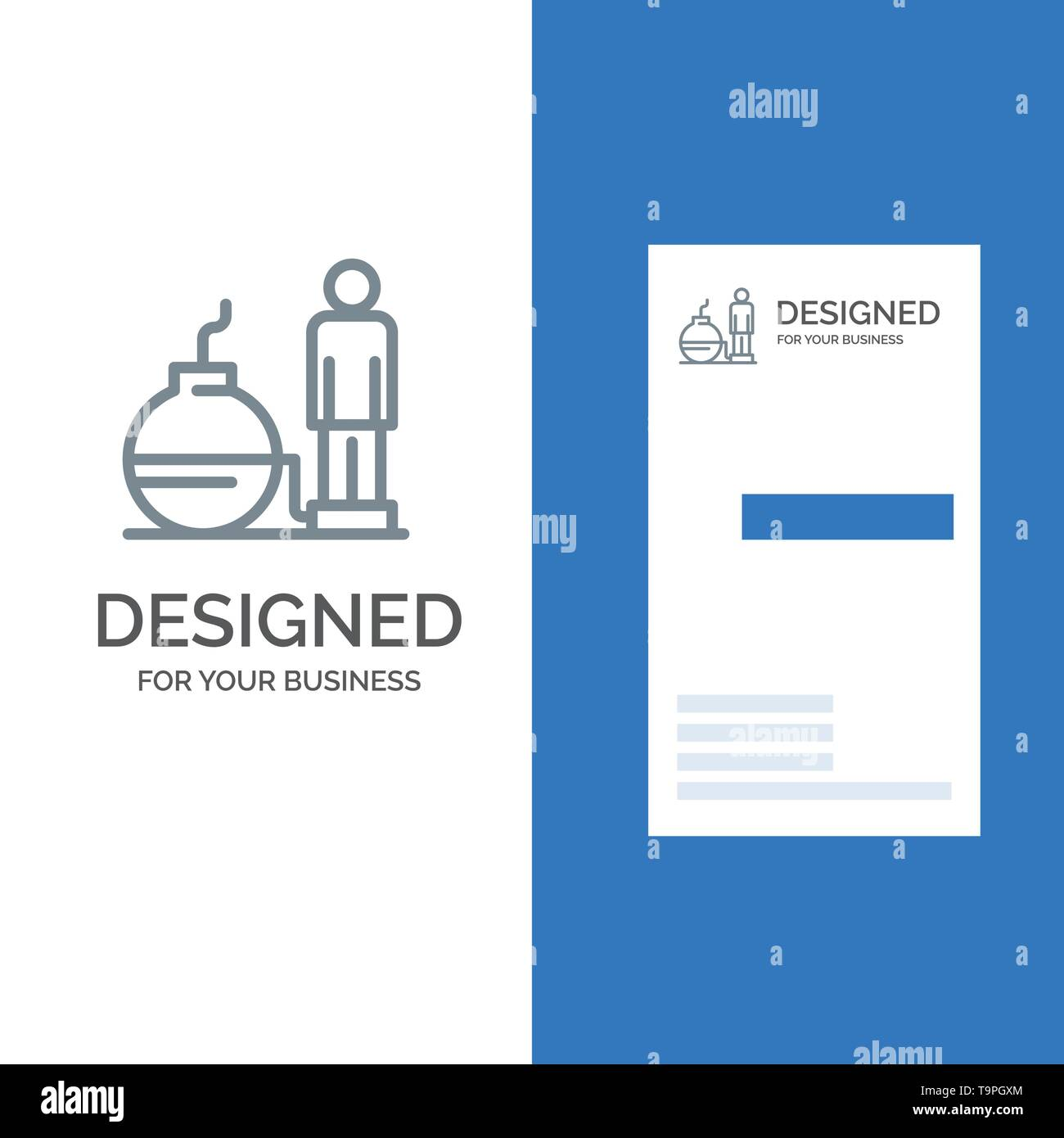 Business, Debt, Modern, Problem Grey Logo Design and Business Card Template - Stock Image