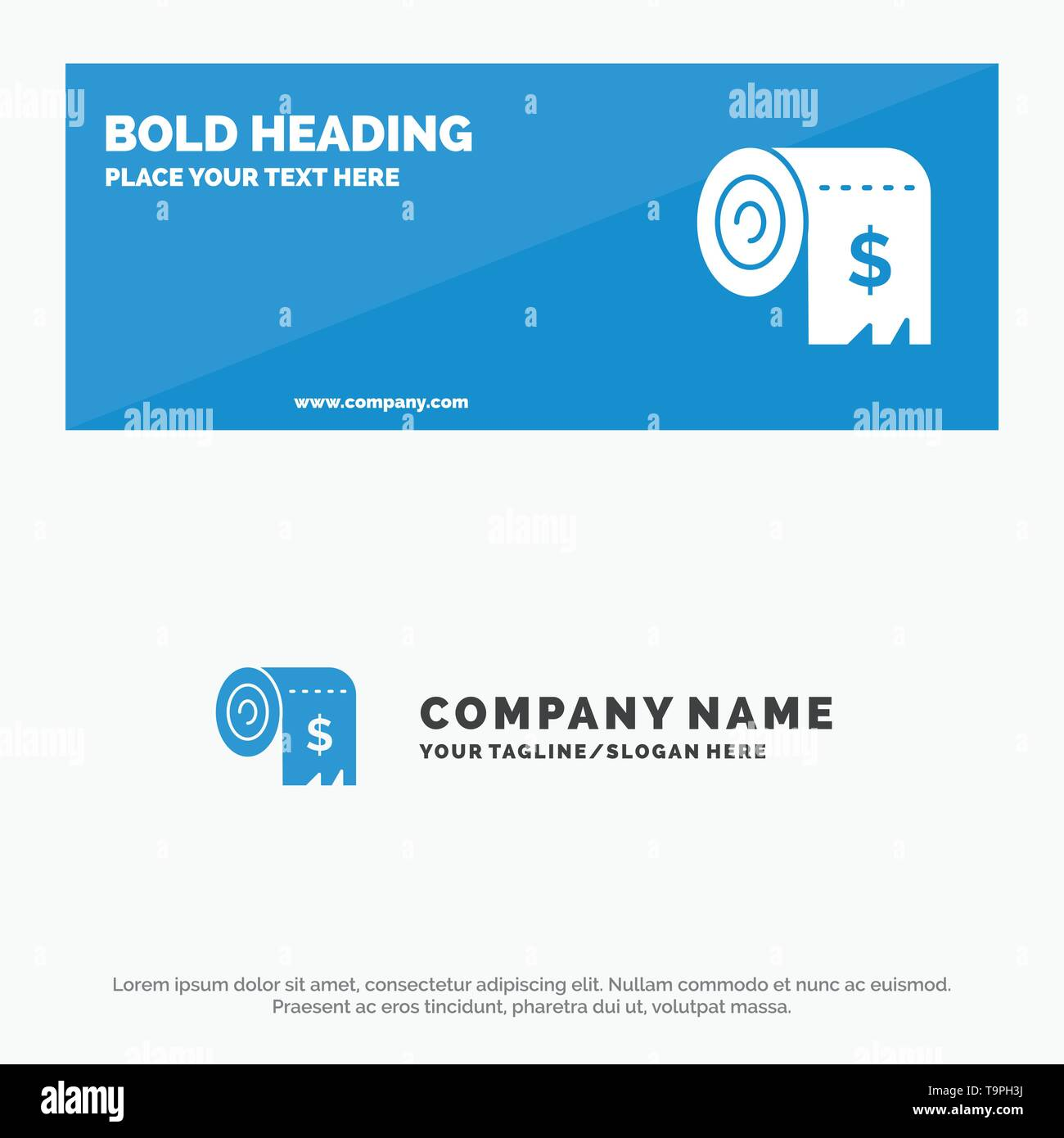Budget, Consumption, Costs, Expenses, Finance SOlid Icon Website Banner and Business Logo Template - Stock Image