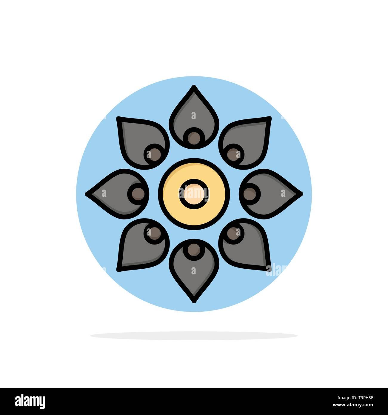 Celebrate, Decorate, Decoration, Diwali, Hindu, Holi Abstract Circle Background Flat color Icon - Stock Image
