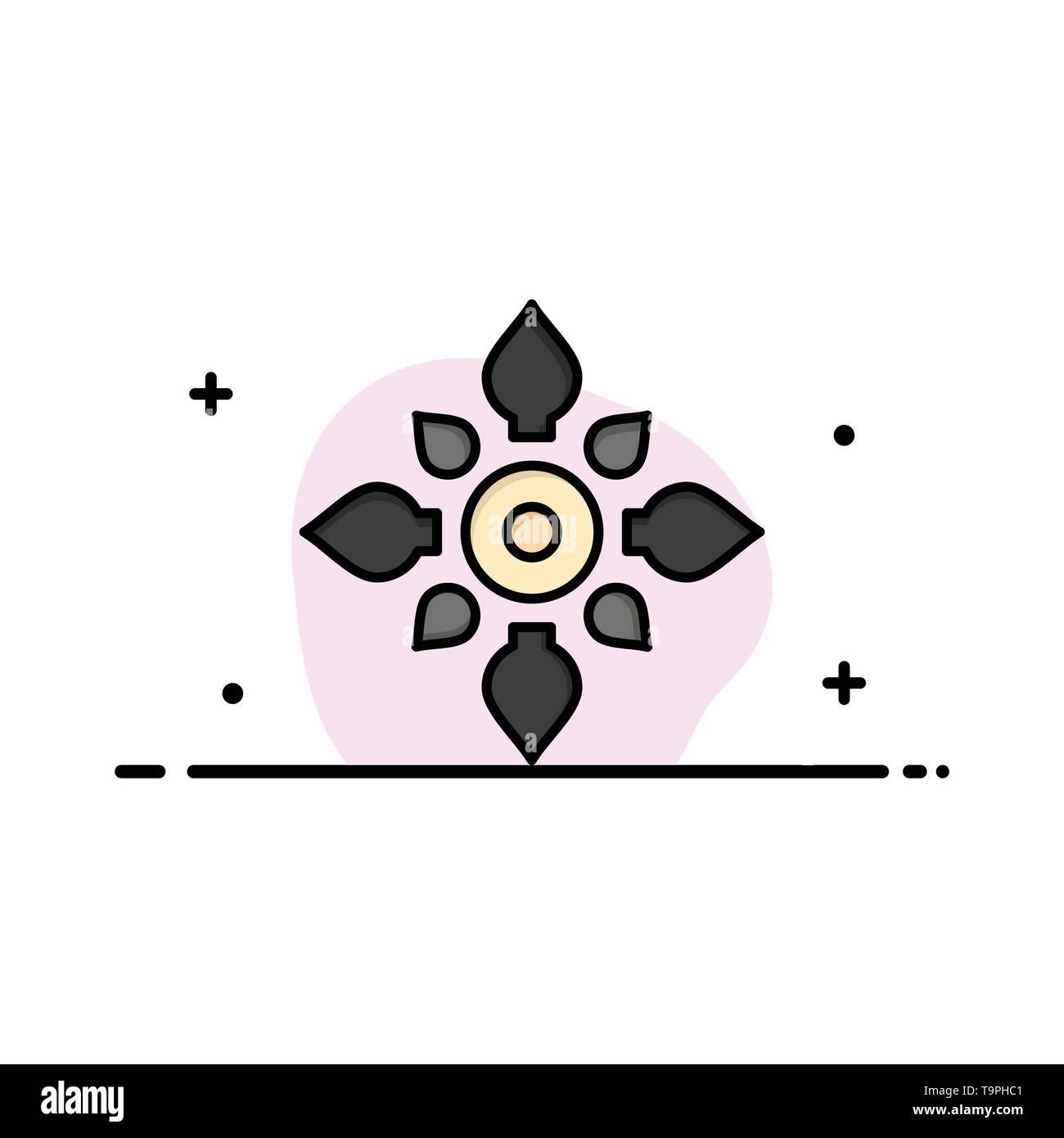 Celebrate, Decorate, Decoration, Diwali, Hindu, Holi Business Logo Template. Flat Color - Stock Image